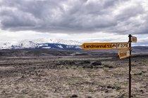 50 kilometrów do Landmannalaugar