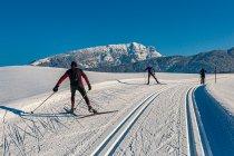 Biegacze narciarscy w austriackim Tyrolu