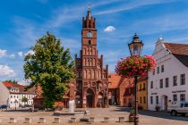 Brandenburg nad Hawelą - ratusz i posąg Rolanda