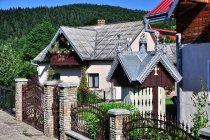 Bukowińskie domy zdobione blachą