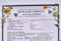 Cennik Reykjavik Campsite