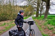 Chłodne popołudnie na rowerze w Niemczech