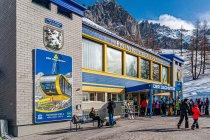 Dolna stacja kolei gondolowej na Dachstein