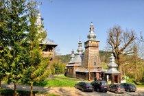 Drewniana cerkiew i wieża w Bereście