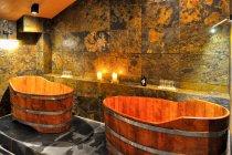Drewniane balie do kąpieli piwnej
