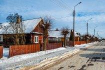 Drewniane domy w Białowieży