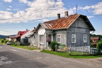 Drewniane domy w Jaśliskach