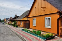 Drewniane domy w Ulanowie