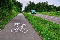 Droga rowerowa Green Velo wzdłuż Sanu