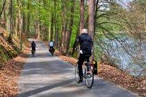 Droga rowerowa nad jeziorem Platkow