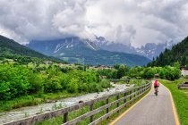 Droga rowerowa w Dolomitach