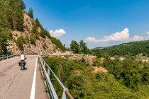 Droga w Apeninach w kierunku Parmy