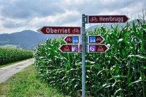 Drogowskazy szwajcarskich tras rekreacyjnych