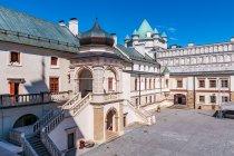 Dziedziniec zamku w Krasiczynie