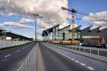 Estakada PKM przed terminalem lotniska w Gdańsku