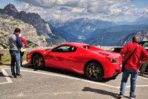 Ferrari pod Rifugio Auronzo