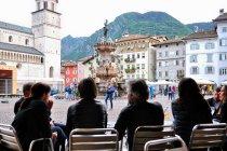 Fontanna Neptuna na Piazza Duomo w Trydencie