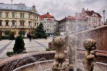 Fontanna pod zamkiem w Bielsku-Białej