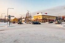 Główne skrzyżowanie w Kuusamo