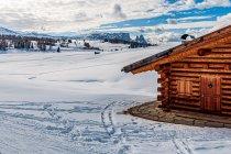 Górska chata w Dolomitach