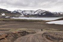 Górski interior Islandii na rowerze