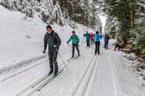 Grupa narciarciarska na Rittisloipe