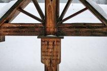 Inskrypcja na krzyżu
