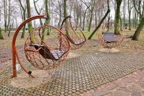 Instalacje w parku w Poddębicach