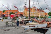Jacht Antica z Gdańska w porcie w Nexo