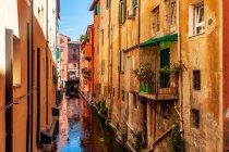 Jeden z kanałów biegnących pod Bolonią