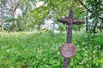 Jeden z krzyży w Łupkowie