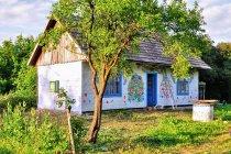 Jeden z wielu malowanych domów w Zalipiu