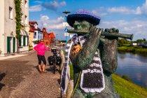 """Jedna z rzeźb """"Podróży w czasie"""" w Wittenberge"""