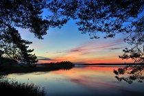 Jezioro Wigry na koniec dnia