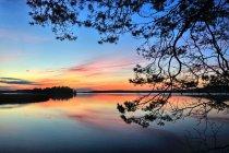 Jezioro Wigry podczas zachodu Słońca