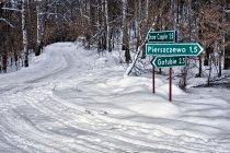 Kaszubskie zimowe drogi
