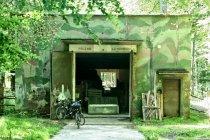 Kiedyś hangary, teraz stajnia - w lesie między Ustką a Swołowem