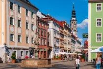 Kolorowe stare miasto w Görlitz