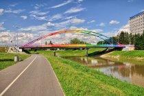 Kolorowy most Narutowicza w Rzeszowie
