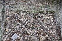Kości w ossuarium w Bystrzu