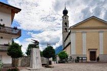 Kościół i pomnik ofiar I wojny światowej w Caldonazzo