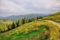 Krajobraz nad przełęczą