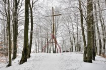 Krzyż na szczycie Wieżycy