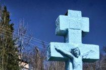 Krzyż pod cerkwią w Wołowcu