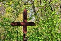 Krzyż w lesie w Szalmii