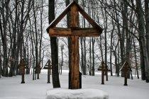 Krzyże cmentarza w Czarnem