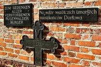 Krzyże i tablice w lapidarium
