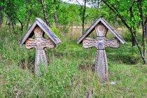 Krzyże na cmentarzu w Barsanie