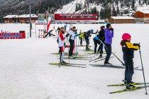 Kurs narciarstwa biegowego na stadionie w Ramsau