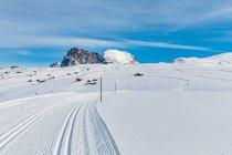 Łąki Dolomitów zimą
